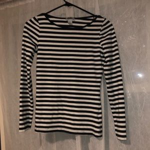 H&M NWOT long sleeve strip top